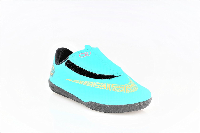 Botas Futbol Nike CR7 Jr. Vapor 12 Club Suela Lisa Verde/Dorado Niño: Amazon.es: Zapatos y complementos