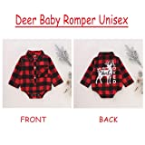 Christmas Newborn Boy Clothes Baby Girl Romper Red