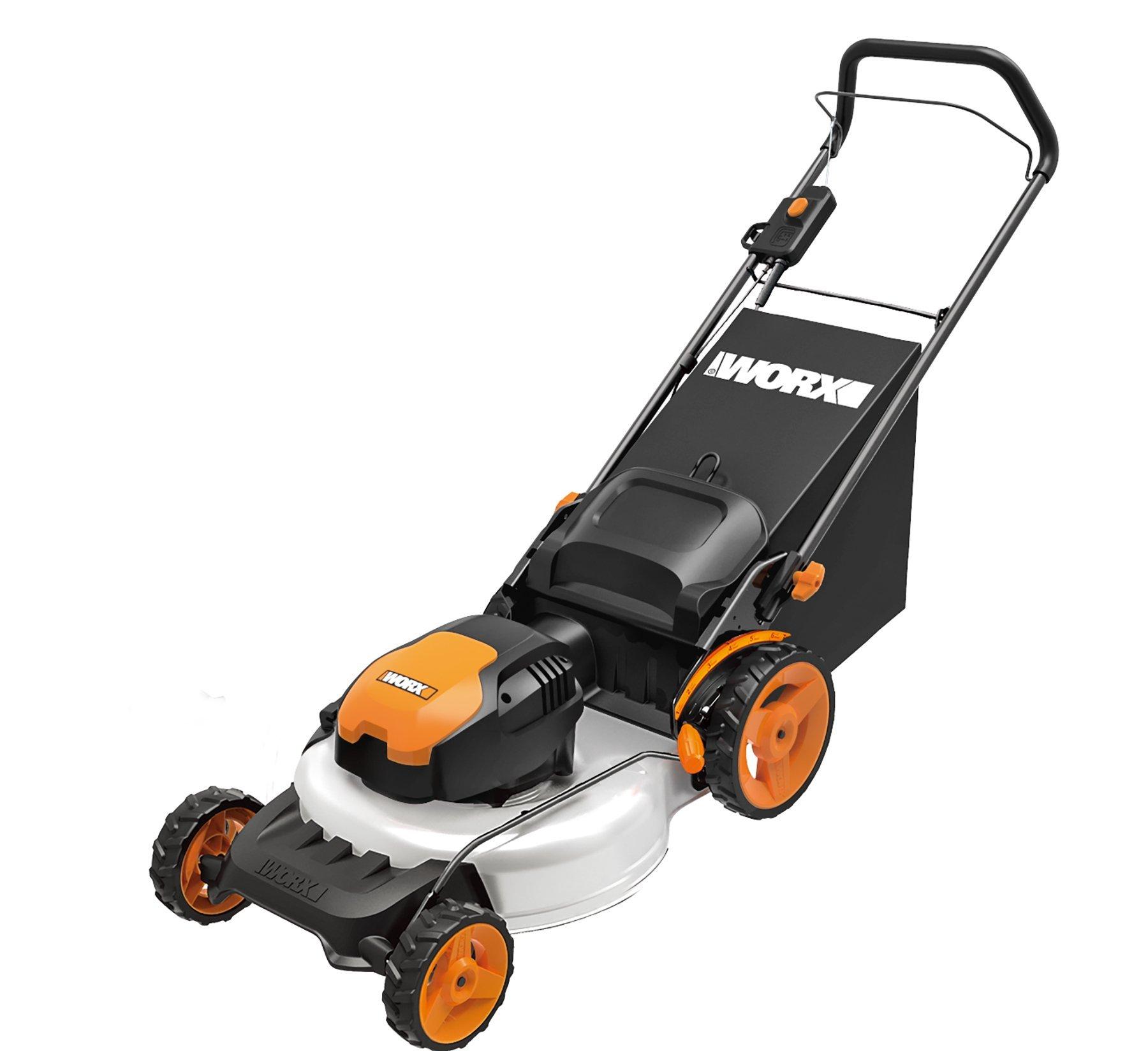 WORX WG720 12 Amp Electric Lawn Mower, 19''