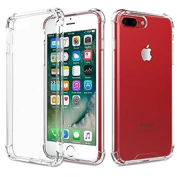 9e2a5ad569 iPhone7plusケース クリア ストラップホール付き Fogeek iPhone8plus クリアケース Qi 充電 対応 落下 衝撃 吸収
