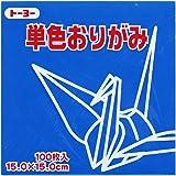 Toyo Origami Paper Single Color - Blue - 15cm, 100 Sheets (1)