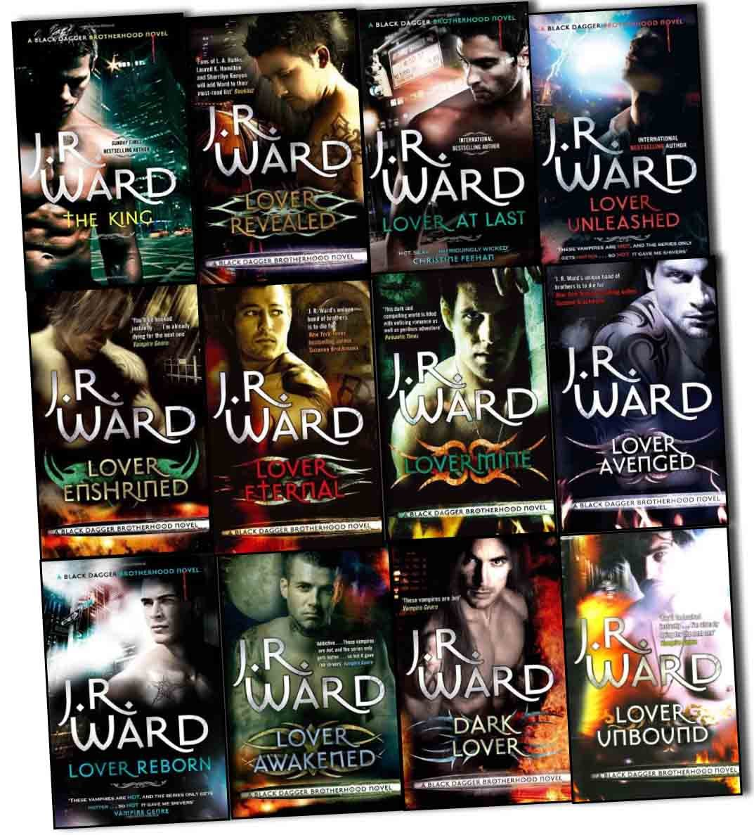 J R Ward Black Dagger Brotherhood Series 12 Books Collection Pack Set  (dark Lover, Lover Eternal, Lover Awakened, Lover Revealed, Lover Unbound,