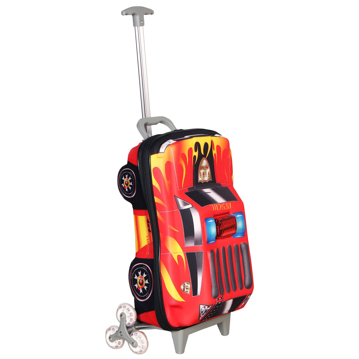 T Bags For Kids 3D Police Car Red Childrens Trolley Bag Amazonin Wallets Luggage