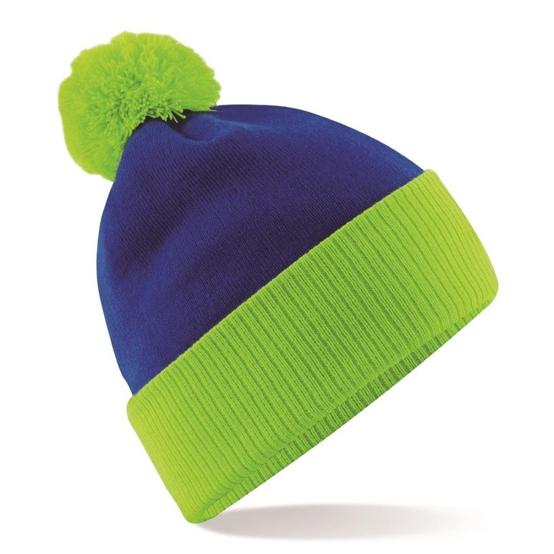 Beechfield Snowstar Duo Two-Tone Beanie BB451 BK/BR ONE