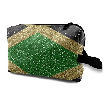 Bandera de Jamaica Raya Isla del Caribe Bolsa de Viaje Bolsa de cosméticos Bolsa de Maquillaje