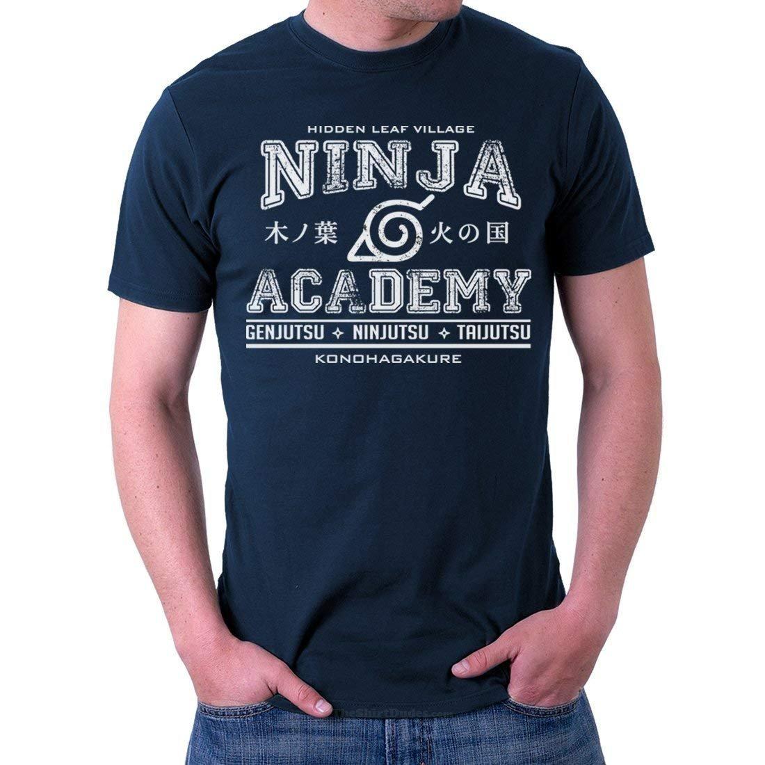 Ninja Academy Konoha Naruto Anime Adult T-Shirt: Amazon.es ...