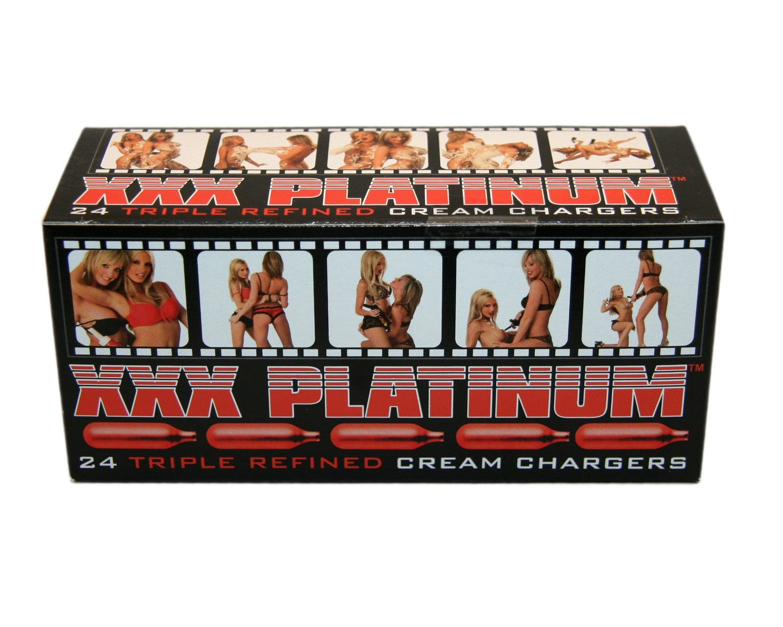 XXX Platinum Triple-Filtered Cream N2O Chargers - 8g Nitrous Oxide - 360 (15 Boxes of 24) by XXX Platinum