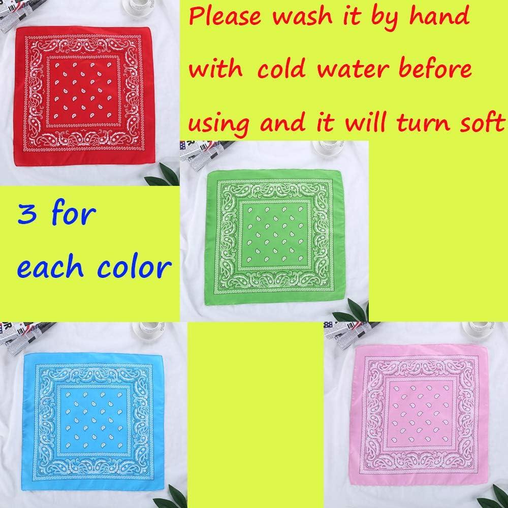 Cotton Paisley Bandanas Print Novelty Head Wrap Scarf Wristband Bandanas for Women Men