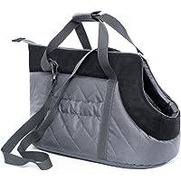 HOBBYDOG Gate GZC6Carrier Carrying Bag Cat Carrier Size 22x 20x 36cm, Grey/Black