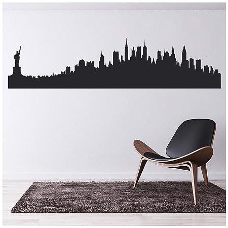 Adesivi Murali Skyline New York.Azutura New York Stati Uniti Adesivo Murale Skyline Della Citta
