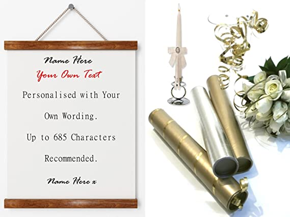 Personalised a4 scroll your own wording. love letter complete