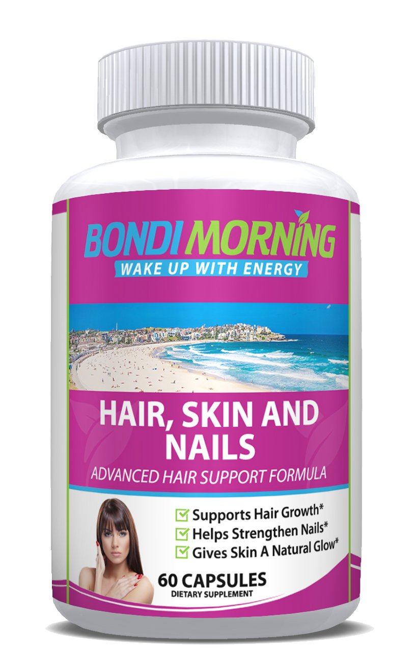 Amazon.com: Hair Skin and Nails Premium Dietary Supplement – 100 ...