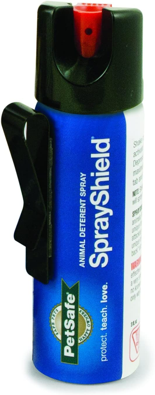 PetSafe SprayShield Animal Deterrent with Clip, Citronella Spray up to 10 ft, Protect Yourself and Your Pets - PTA00-14718