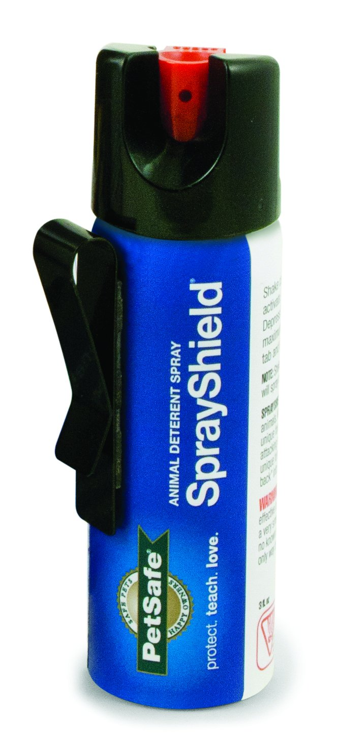 PetSafe SprayShield Animal Deterrent with Clip, Citronella Spray up to 12 ft, Protect Yourself and Your Pets