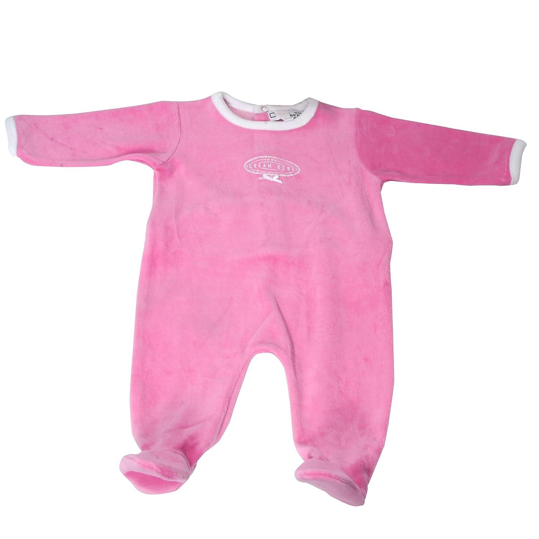eebf98d89 Amazon.com  Newborn Baby Girl 1 pc Footed Pajama Sleeper Velour ...