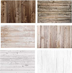 RENIAN Food Photography Background Set 3pcs 34x22inches/56x86cm Flat Lay Photoshoot Backdrop Double Sided for Photo Studio Product Jewelry Tabletop Blogger Pictures Props, 6 Patterns