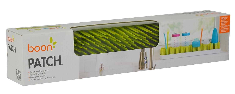 Boon Patch color verde forma rectangular Bandeja de secado para biberones con dise/ño de c/ésped