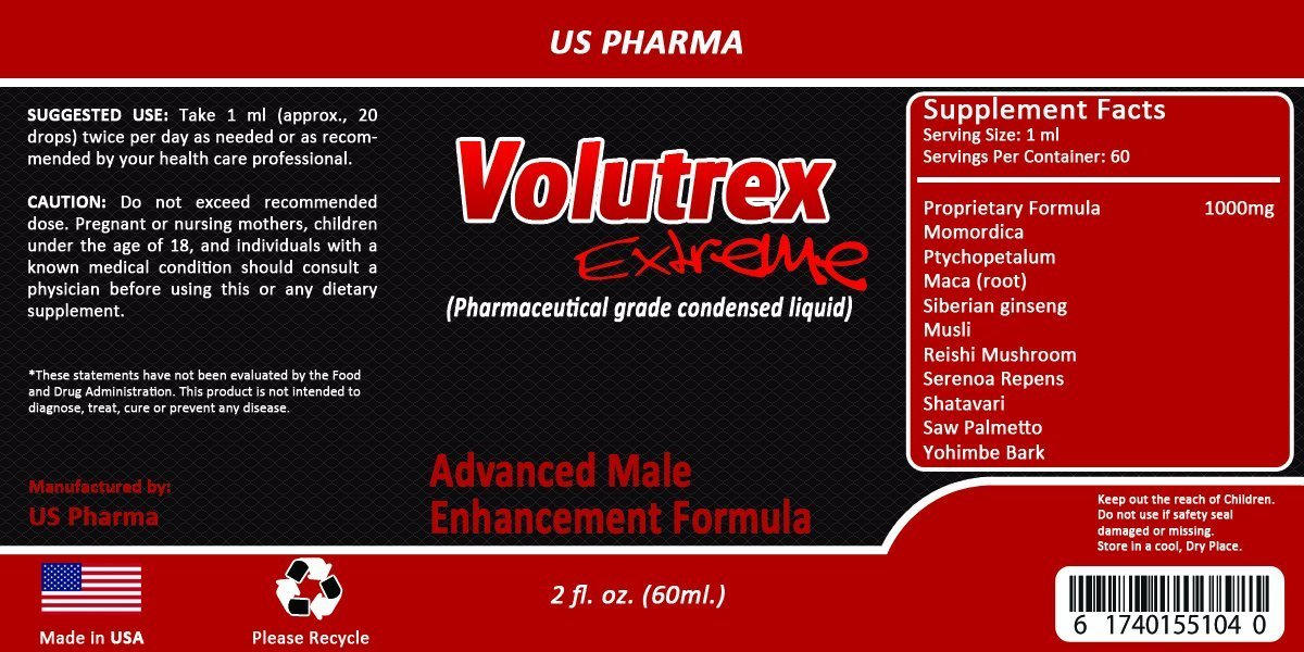 VOLUTREX - Pharma Grade - Semen VOLUMIZER - 80% More Effective Than Pill - Increase up to 300% - MAX Strength - All Natural