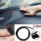 AST Works 1.6 m Soundproof Dustproof Sealing Strip-Auto Car Dashboard Windshield (Black)