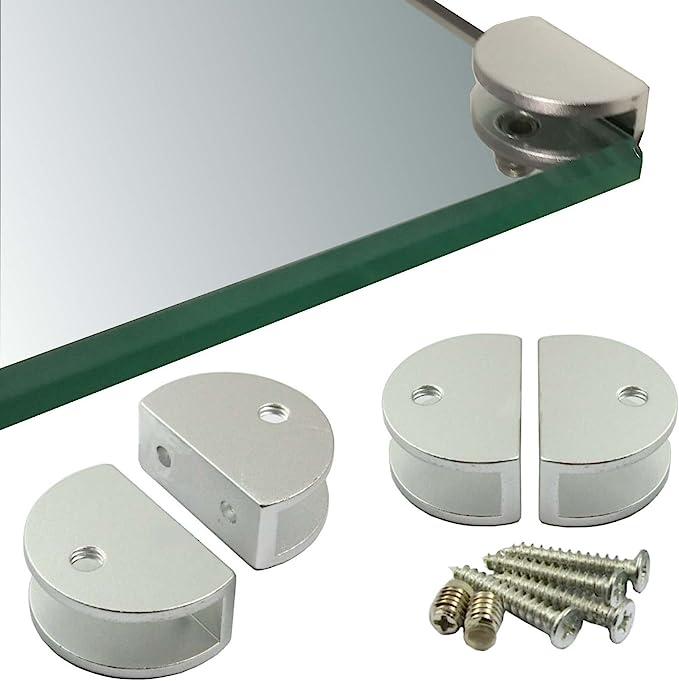 2 St/ück Stabile Regaltr/äger f/ür Glas- und Holzb/öden Verschiedene Varianten Euro Tische Regal-Halter Glasbodentr/äger