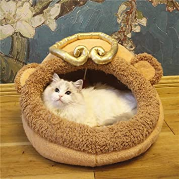 Xinjiener Saco de Dormir para Gato Cama de Mascota Sábana de Enfermería Suministros de Gato Lavables Monkey King S: Amazon.es: Productos para mascotas