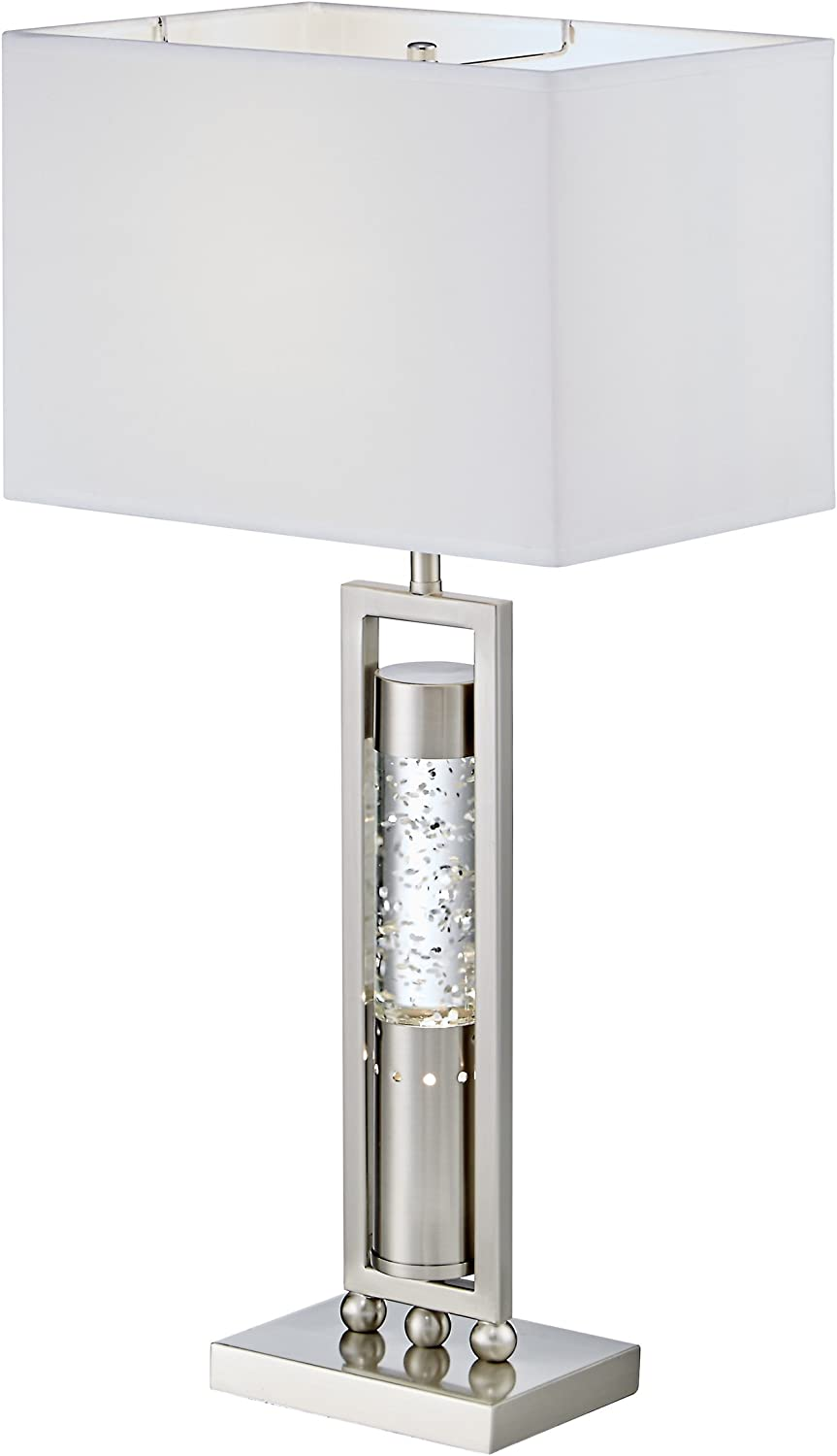 Amazon Com Homelegance Satin Nickel Metal Finish Table Lamp With Sparkling Decorative Drop Dancing Water Mood Night Light Top Home Kitchen