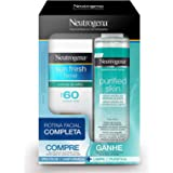 Kit Promocional Protetor Solar Sun Fresh Facial FPS 60 50 g com Água Micelar Demaquilante, Neutrogena, 200 ml