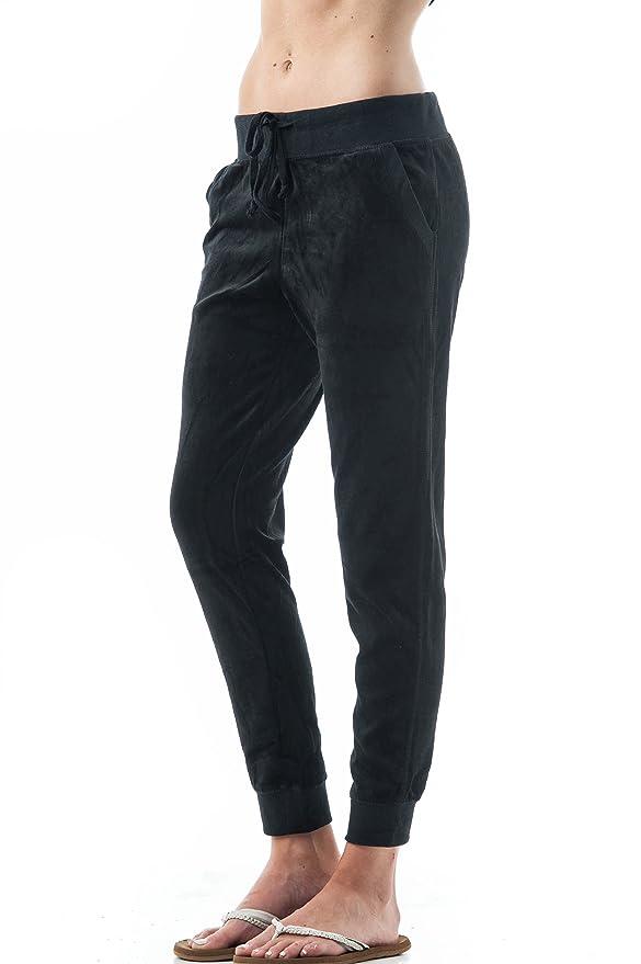 Khanomak - Pantalones de chándal, Terciopelo, con cordón ...