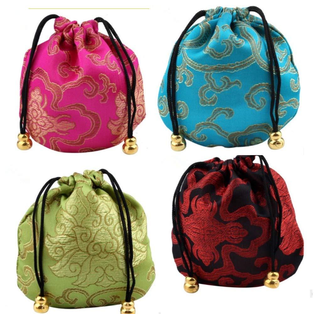 Amazon.com: MGQFY 12 piezas de bolsa de joyería de brocado ...