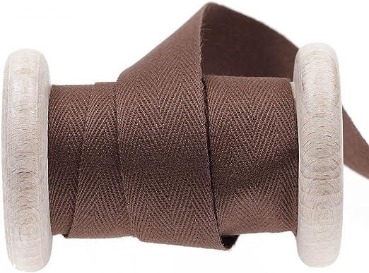 Cinta de algodón sarga, se vende por metros, color marrón, algodón ...
