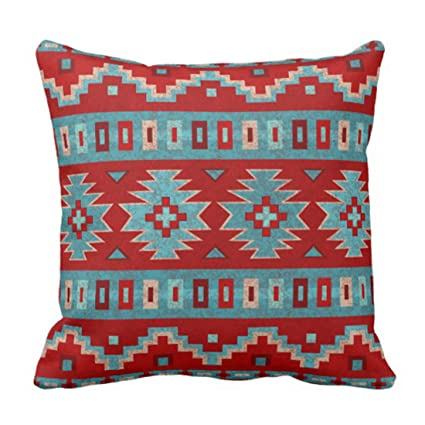 Amazon Emvency Throw Pillow Cover Red Santa Southwest Mesas Simple Southwest Decorative Pillows