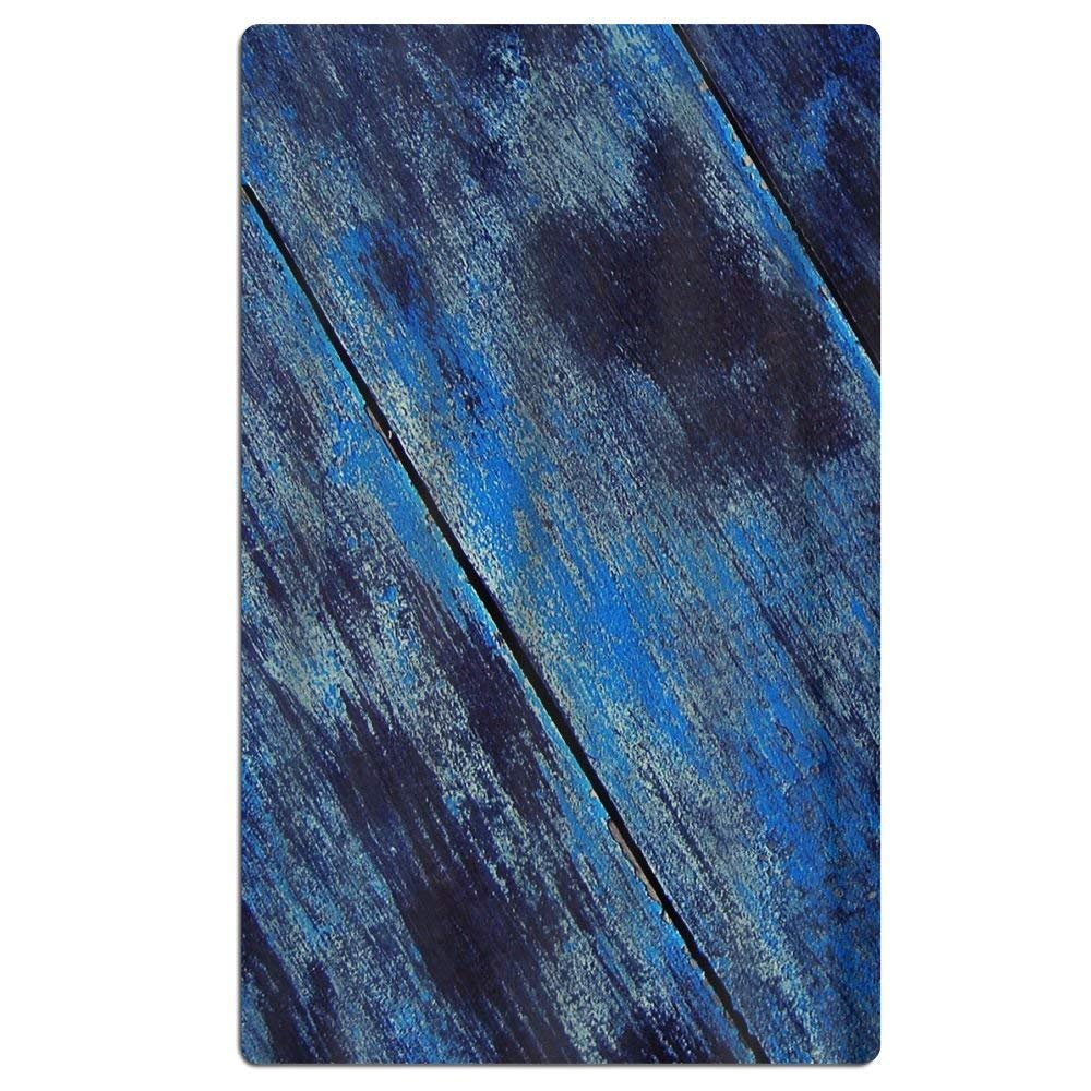 Carmen A Texture Wood Blue Beach Towel Soft Quick Dry Lightweight High Absorbent Pool Spa Towel for Adult 31 X 51 Inch