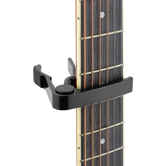 Tiger Music GACAPO3 - Cejilla de pinza para guitarra, color negro: Amazon.es: Instrumentos musicales
