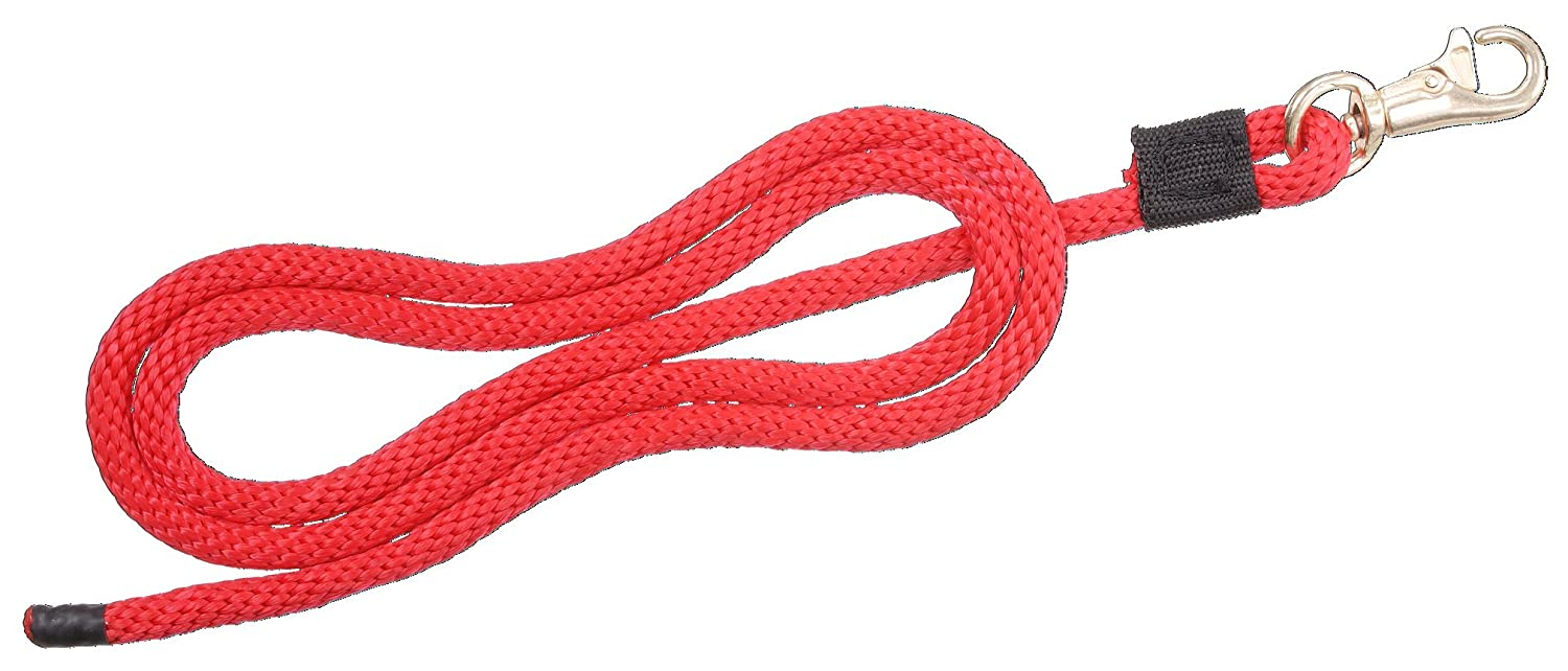 (1.3cm x 1.8m, Red) Tough 1 Miniature Lead with Small Trigger Bull Snap