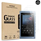 AKWOX [Pack of 3 Tempered Glass Screen Protector for Sony NW-A45, [0.3mm 2.5D High Definition 9H Hardnessm] Screen…