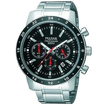 Pulsar PT3161X1 - Reloj de Caballero Movimiento de Cuarzo con Brazalete metálico: Amazon.es: Relojes