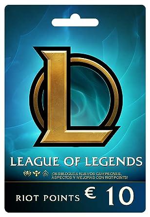 League of Legends €10 Tarjeta de regalo prepaga (1380 Riot ...