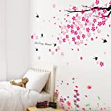 Walplus Wall Stickers Combo Swallows & Flowers Plus But Grass & Butterflies - Office Home Decoration, 170cm x 150cm, PVC, Removable, Self-Adhesive, Multi-Color