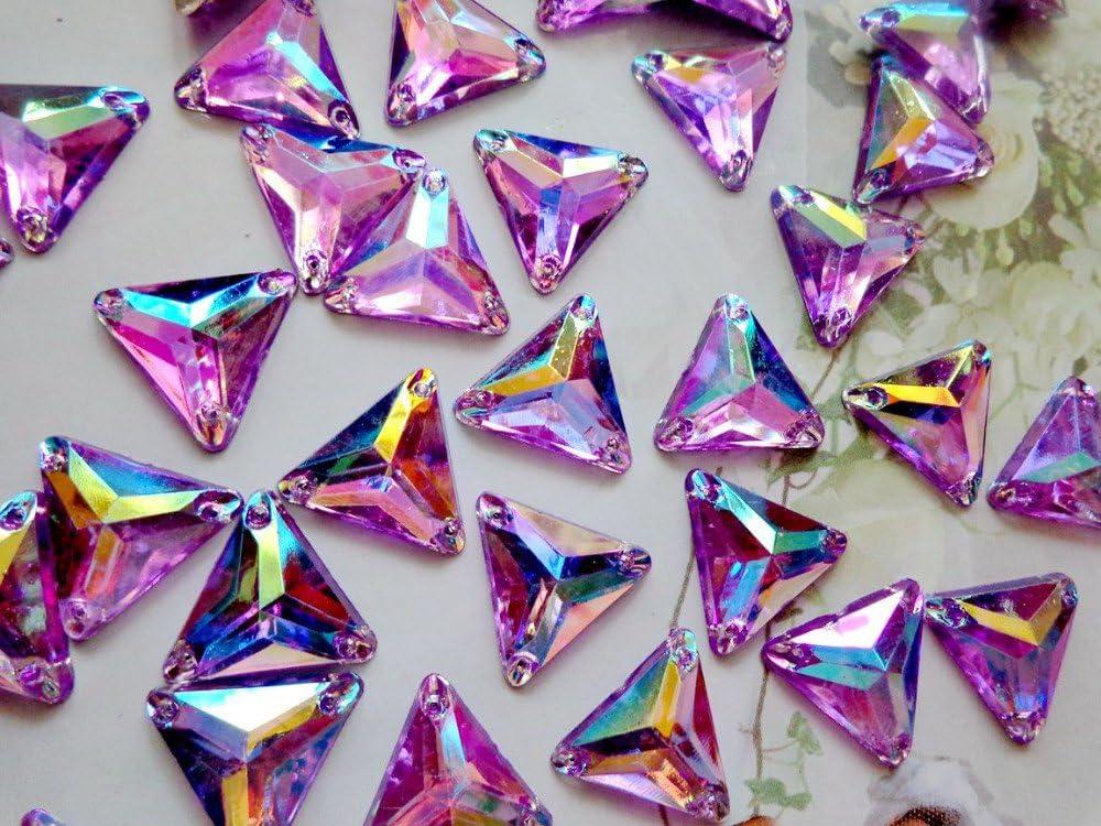 Courroie Pearl Gem pierres Multicolore coudre Strass Forme de triangle 14/mm arri/ère Cristaux accessoire de robe 100/pcs red
