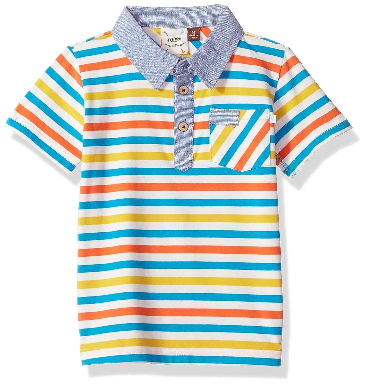 28317ce1e Amazon.com  Fore Axel   Hudson Boys Short Sleeve Stripe Polo  Clothing