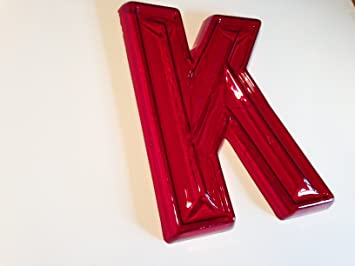 big red retro marquee letters k