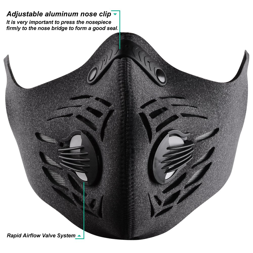 BASE CAMP Dust/Pollution Mask with Three Extra Filters Pack for Allergy Woodworking Mowing Construction Running by BASE CAMP (Image #5)