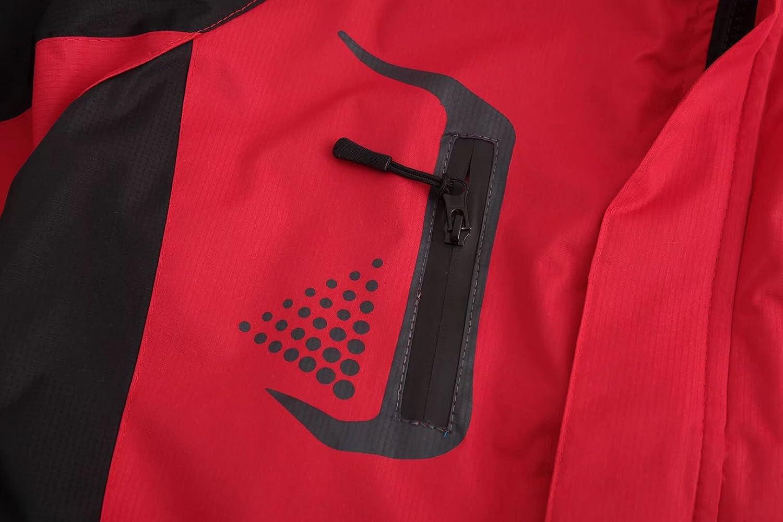 Sichyuan Unisex Outdoor Waterproof Jacket,Comfortable Outerwear Windbreaker With Removeable Cap.