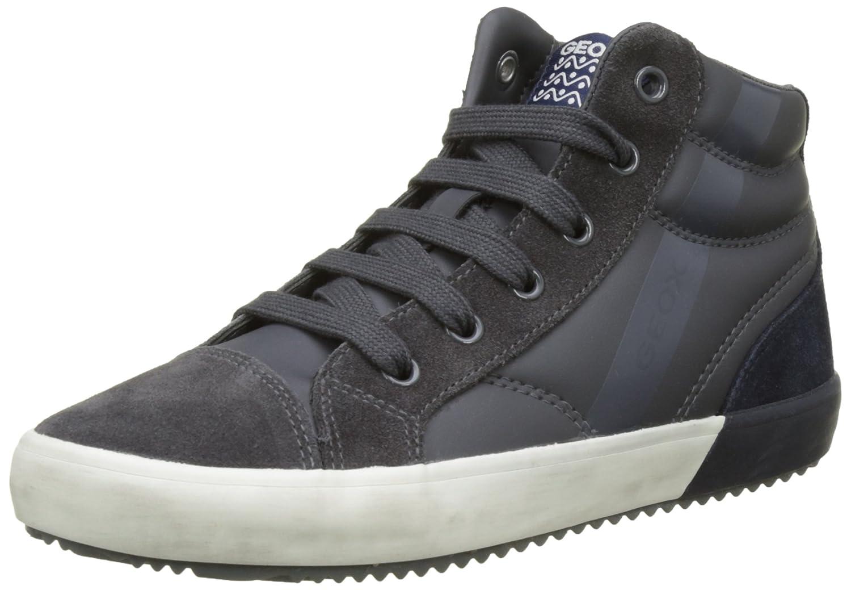 Geox Mädchen J Kalispera Girl I Hohe Sneaker, Grau (Dk Grey), 27 EU
