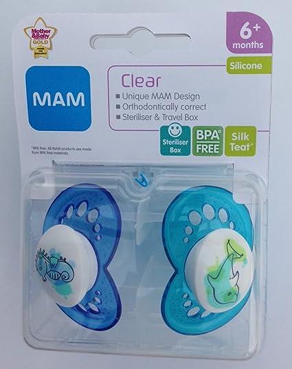 MAM Clear: 2 x Chupetes 6m+ (Caballito de mar / Delfín ...