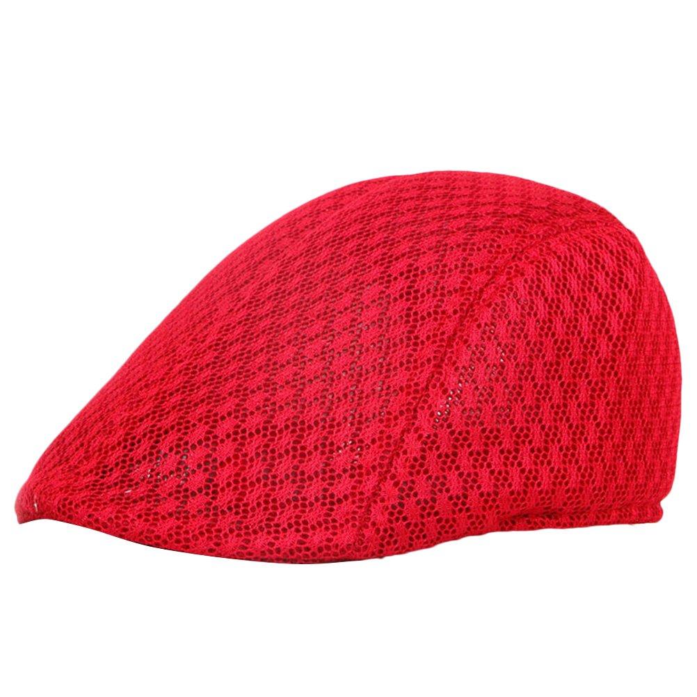 Zhhlinyuan Fashion Newsboy Driving Hat Mens Vintage Hollow Breathable Flat Cap CQ0465