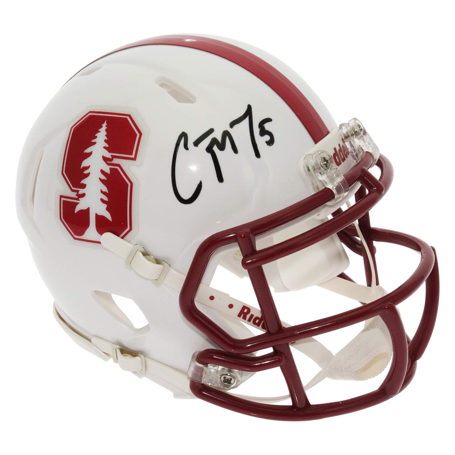 Christian McCaffrey Autographed Signed Stanford Cardinal Speed Mini Helmet - JSA Authentic
