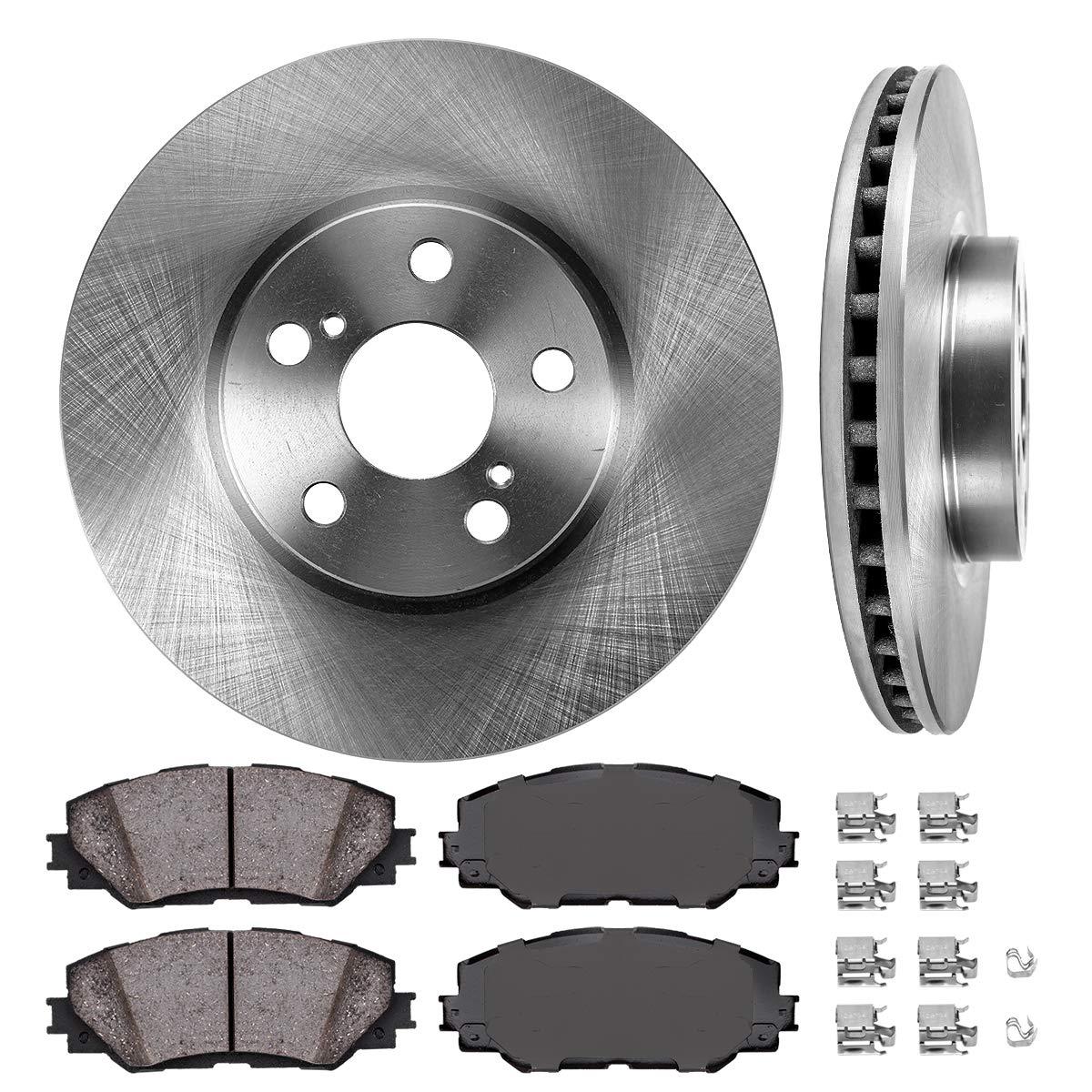 Brake Disc Rotors + Ceramic Brake Pads Clips FRONT 275 mm Premium OE 5 Lug 2 4