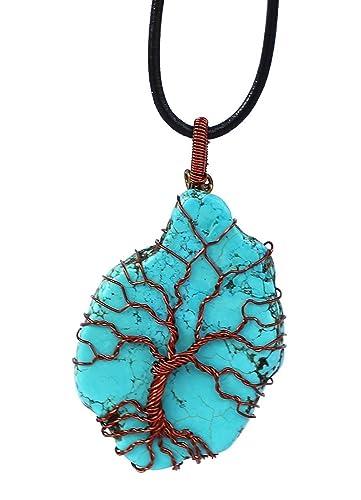 Handgewebte Baum Des Lebens Halskette,Kupferdraht umwickelte ...