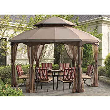 Sunjoy Replacement Canopy Set for Heritage Gazebo with Dome Top  sc 1 st  Amazon.com & Amazon.com: Sunjoy Replacement Canopy Set for Heritage Gazebo with ...